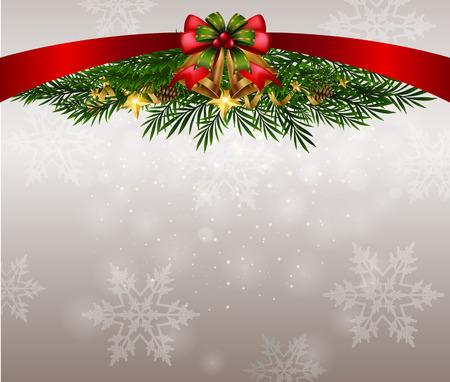 Illustration pour Background theme with snowflakes on christmas illustration - image libre de droit