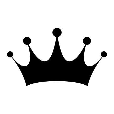 Illustrazione per Crown Vector Icon - Immagini Royalty Free