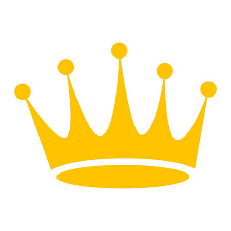 Illustration for Crown Vector Icon - Royalty Free Image