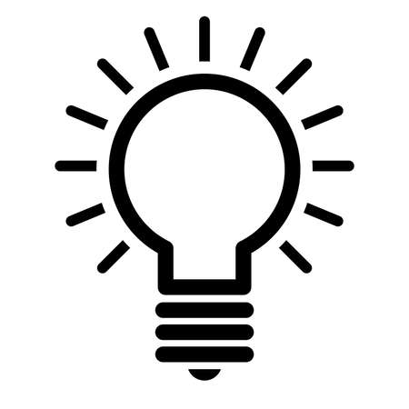 Illustration pour Lightbulb Vector Icon - image libre de droit