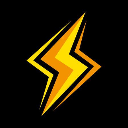 Ilustración de Lightning bolt vector icon - Imagen libre de derechos