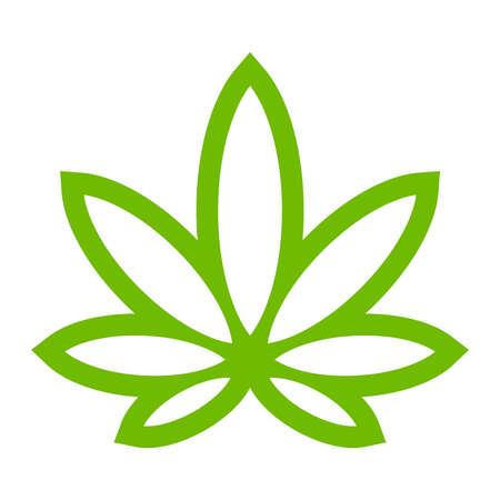 Illustration pour Marijuana Pot Weed Leaf Symbol - image libre de droit