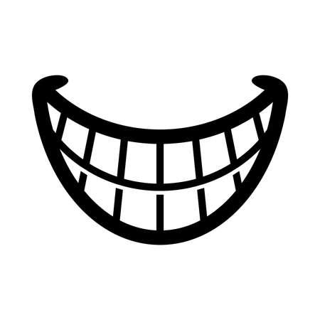Illustrazione per Big Cartoon Smile Vector - Immagini Royalty Free