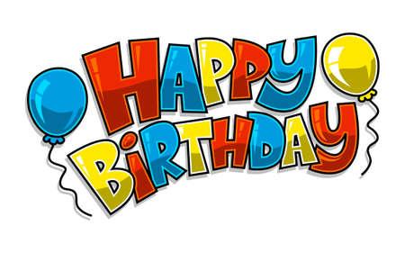 Illustration pour Happy Birthday Balloons Vector - image libre de droit