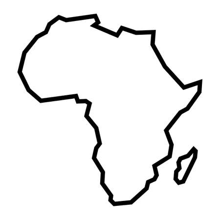 Illustration pour Detailed Map of Africa Continent - image libre de droit