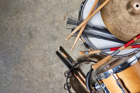 Photo for percussion instruments including drums and cymbals - Royalty Free Image
