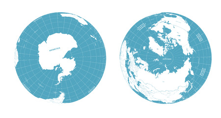 Illustration for Vector Earth globes with political map illustration - Royalty Free Image