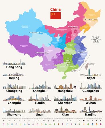 Ilustración de Vector map of China - Imagen libre de derechos