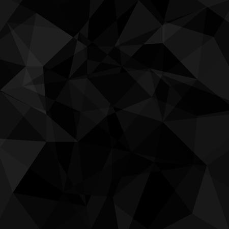 Ilustración de Black geometric triangle background. Vector abstract illustration. - Imagen libre de derechos