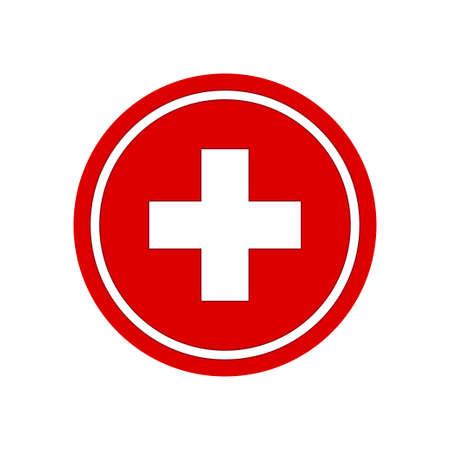 Illustration pour Healthcare plus sign. Medical symbol vector illustration - image libre de droit