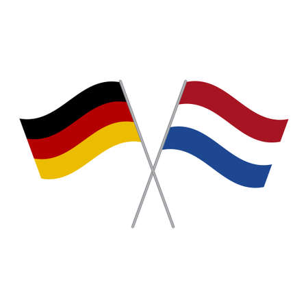 Illustration pour Netherlands and Germany flags vector isolated on white background - image libre de droit