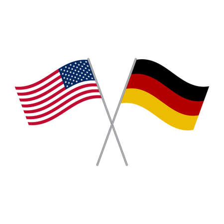 Illustration pour American and German flags vector isolated on white background - image libre de droit