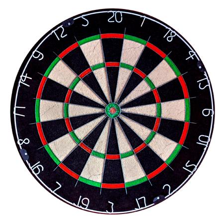 Foto de Sisal professional dartboard isolate on white background (used condition) - Imagen libre de derechos