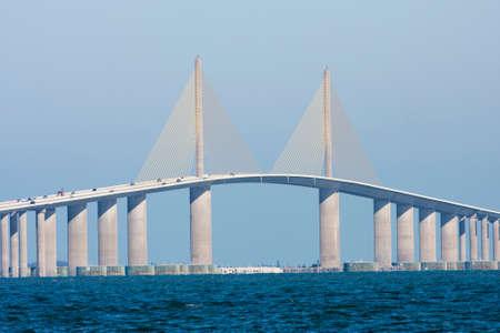 Photo pour The Sunshine Skyway Bridge seen from Terra Ceia - image libre de droit