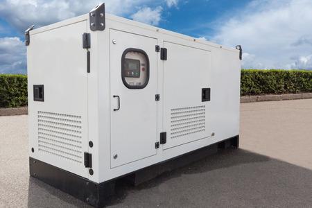 Photo pour Mobile diesel generator for emergency electric power - image libre de droit