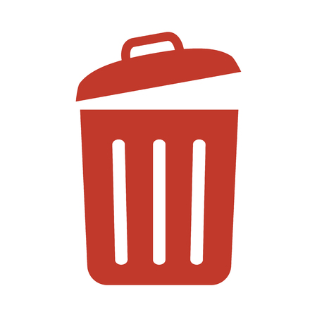 Illustration pour Trash bin icon on white background vector illustration - image libre de droit