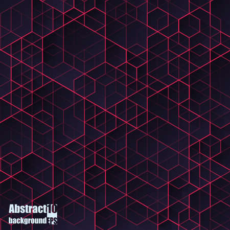 Illustration pour Abstract  background with geometric pattern. - image libre de droit