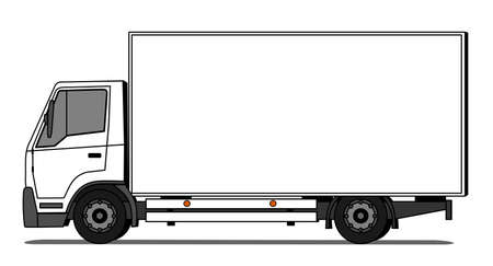 Illustration pour Side illustration of delivery truck - image libre de droit