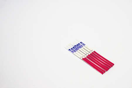 Foto de 7 days of LH ovulation test strip - Imagen libre de derechos