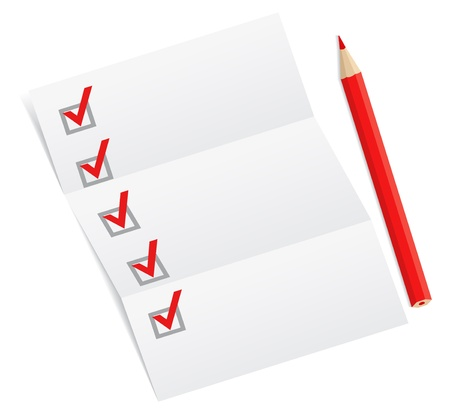 Photo pour Blank checklist with a red pencil - image libre de droit