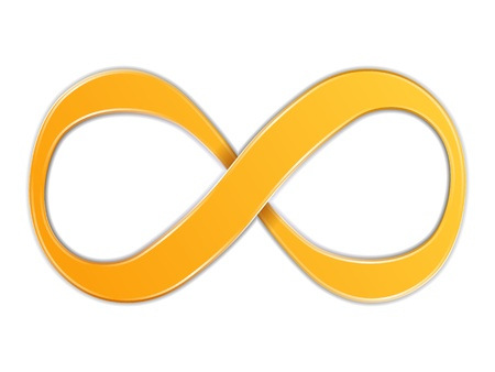 Illustration for Infinity Symbol - Royalty Free Image