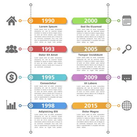 Illustration for Timeline design templatre - Royalty Free Image