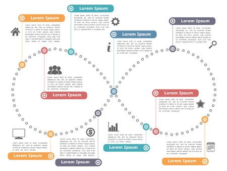 Ilustración de Design template with infinity shape - Imagen libre de derechos