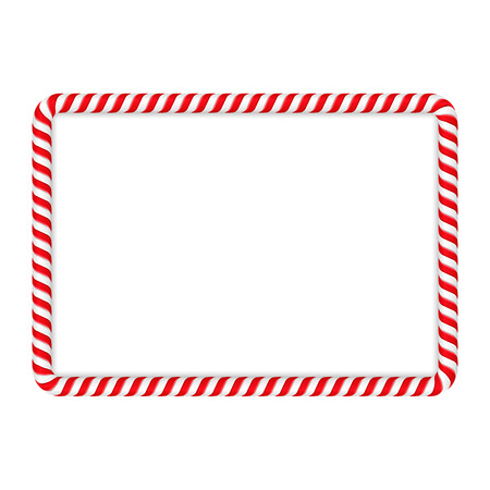 Illustration for Frame made of candy cane - Royalty Free Image