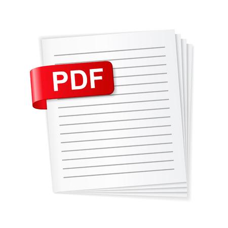Illustration pour PDF File Icon - image libre de droit