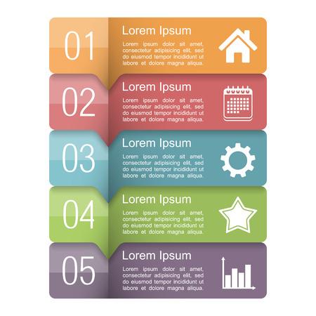 Ilustración de Infographics design template with five elements - Imagen libre de derechos