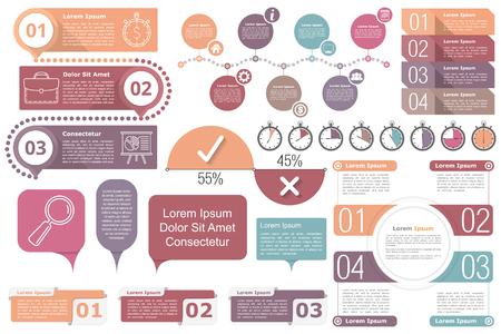 Illustration pour Infographic elements collection - image libre de droit