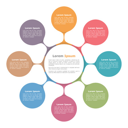 Illustration for Circle diagram with eight elements, infographic template - Royalty Free Image