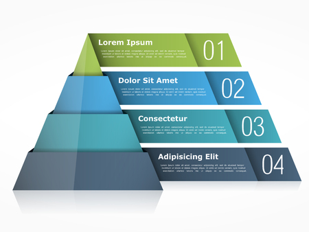 Illustration for Pyramid chart with four elements - Royalty Free Image