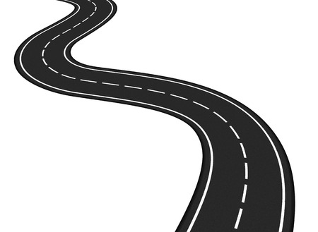 Illustration for Asphalt road on white background - Royalty Free Image
