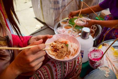 Foto de Local Noodle Myanmar, Near the Road. - Imagen libre de derechos