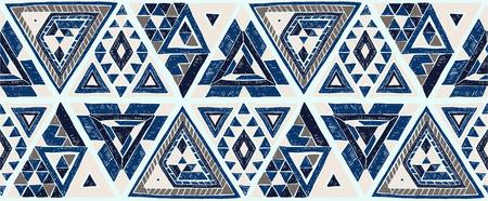 Illustration pour Tribal ethnic vector patchwork pattern. - image libre de droit