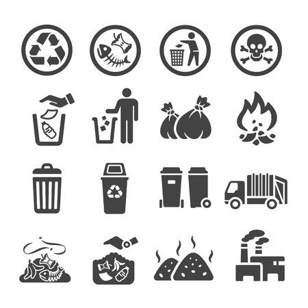 Ilustración de waste,garbage icon - Imagen libre de derechos