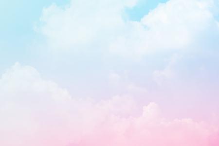 Foto de Soft cloudy is gradient pastel,Abstract sky background in sweet color. - Imagen libre de derechos