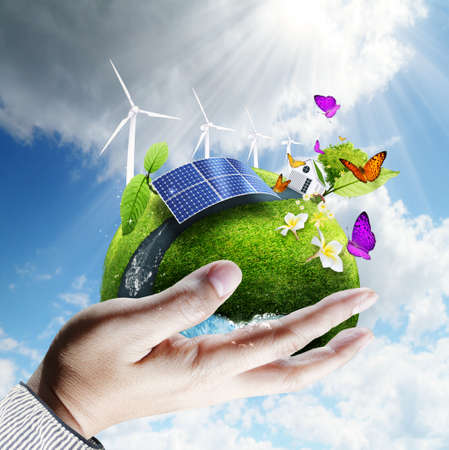 green earth in hand