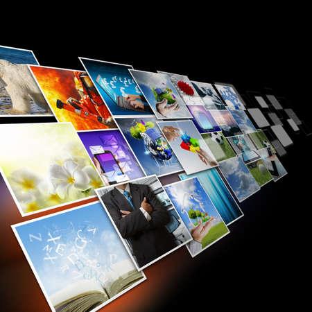 Photo pour visual communication and streaming images concept - image libre de droit