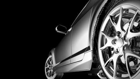 stylish car model on black