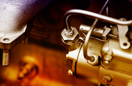 Photo pour Close up of fragment of automobile engine - image libre de droit