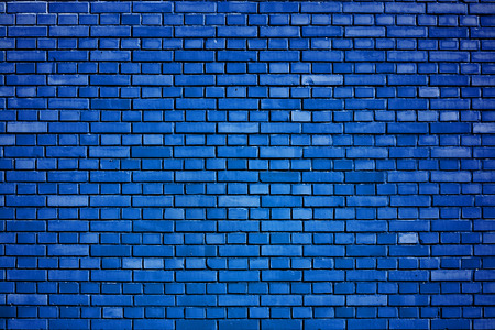 Photo pour dazzling blue brick wall background - image libre de droit