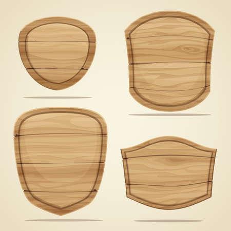 Illustration pour Set of wood elements for design. Vector illustration - image libre de droit