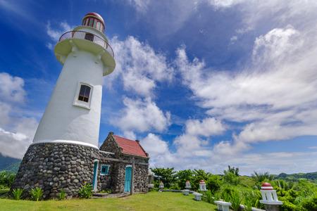 Photo pour Lighthouse in Basco , Ivatan island, Batanes, Philippines - image libre de droit