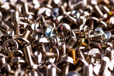 Photo pour bolts and nuts on a white background - image libre de droit
