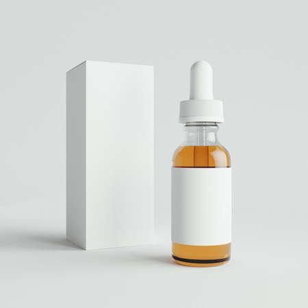 Foto de Mockup Vape bottles with liquid on white background. Template. - Imagen libre de derechos