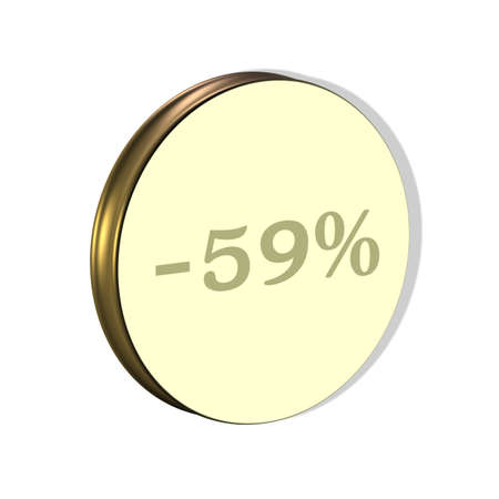 3D illustration, 3D Rendering: x%, symbol image for investments, interest, discount, profit