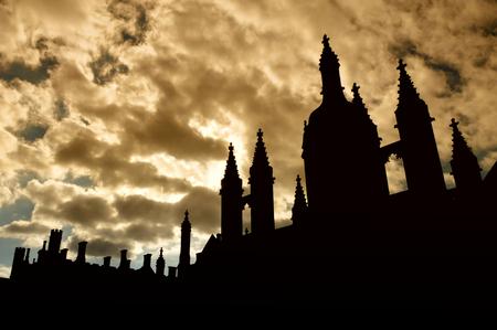 Photo pour King's College Chapel, Cambridge, England, UK - image libre de droit