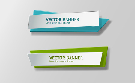 Illustration pour Vector infographic origami banners set. - image libre de droit